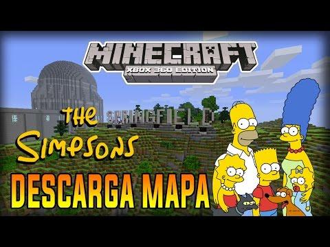 Minecraft Xbox 360 - Descargar Mapa - Springfield Los Simpsons