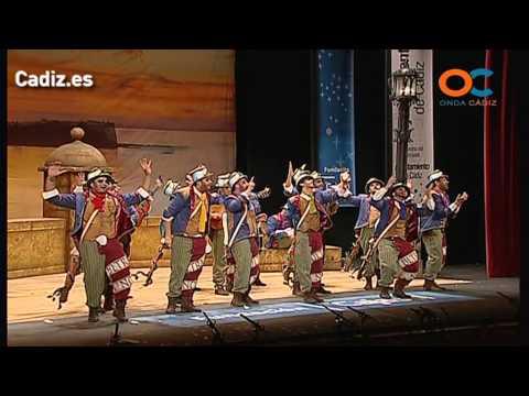 Sesión de Preliminares, la agrupación La canción de Cádiz actúa hoy en la modalidad de Comparsas.
