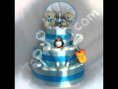 Tartañal - tarta de pañales - http://regalosoriginalesdebebe.es/