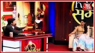 KV सम्मलेन में जब Kumar Vishwas के साथ Sapna Chaudhary ने मंच पर लगाई आग - AAJTAKTV