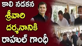 Rahul Took Off On Foot To Tirumala | Rahul To Join Pratyeka Hoda Bharosa Praja Yatra | iNews - INEWS