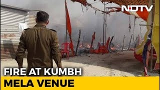 Fire Breaks Out In Camp At Kumbh Mela Ground In Prayagraj - NDTV