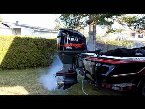 Yamaha HPDI burning off fogging oil