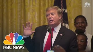 Watch live: President Trump hosts Black History Month reception - NBCNEWS