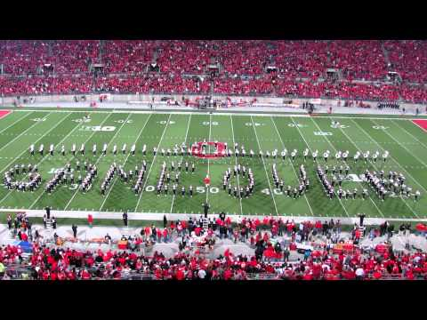 OSUMB Video Game Half Time and Nebraska Players Walk on during Script Ohio OSU vs. NE 10 6 2012
