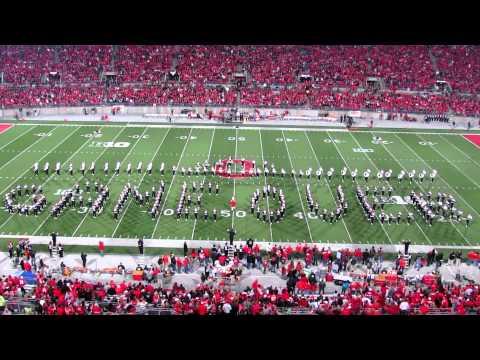 OSUMB Video Game Half Time and Nebraska Players Walk on during Script Ohio OSU vs. NE 10 6 2012