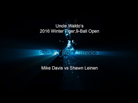 2016 Tiger Tour Winter 9 Ball Open Mike Davis vs Shawn Leinen