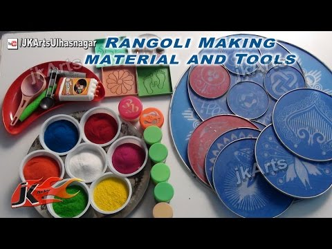 DIY Rangoli Making Tools and Material - JK Arts 408