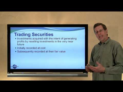 Investments in Trading Securities Video