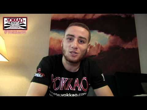 Houcine Bennoui one day before his fight vs Liam Harrison YOKKAO 8 - @yokkaoboxing
