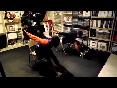 Long Jump Landing Mechanics Exercise - Chair Drill
