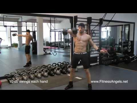 Napredni trening bez pauze sa bučicama: rutina 2