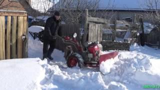 Засыпало...! Убираем снег мотоблоком.