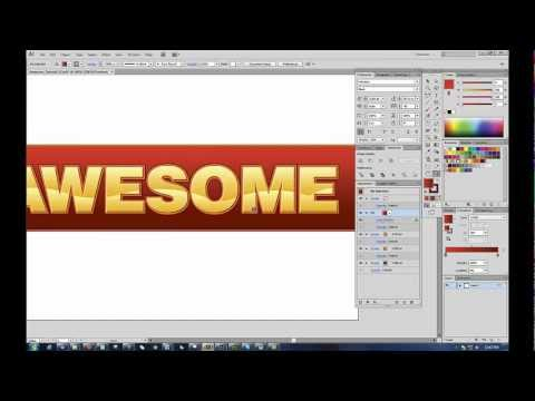 Easy and Awesome Text and Bevel Effects for Adobe Illustrator CS6 and Below