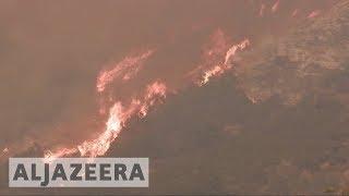 Santa Barbra threatened as California fires rages on - ALJAZEERAENGLISH