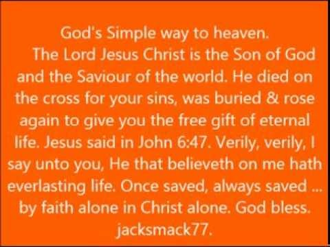 God's Simple Way to Heaven.