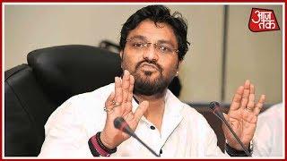 'टांग तोड़कर व्हीलचेयर गिफ्ट कर दूंगा': खुले मंच से केंद्रीय मंत्री Babul Supriyo की धमकी सुनिए - AAJTAKTV
