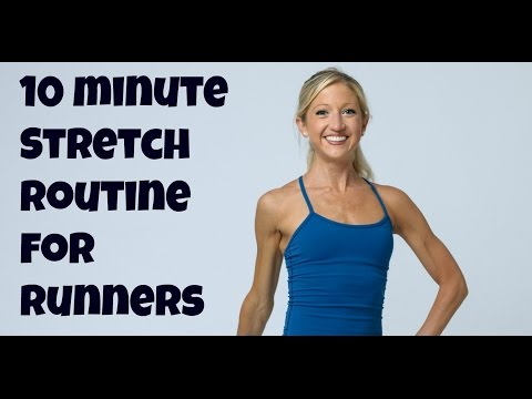 Free 10 Minute Stretching Routine for Runners. Online Flexibility Training Video.