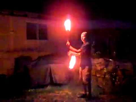 my first fire poi performance 