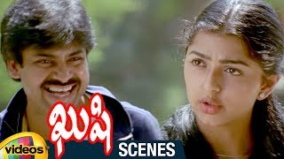 Pawan Kalyan Shocked by Bhumika | Kushi Telugu Movie Scenes | Ali | SJ Suriya | Mango Videos - MANGOVIDEOS