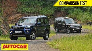 2014 Mahindra Scorpio vs Tata Safari Storme | Comparison Test | Autocar India