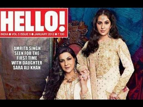Sara Ali Khan and Amrita Singh in Hello's Mother-Daughter Special