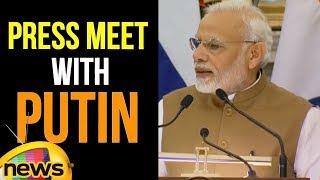 Modi Speech at Joint Press Meet with Russian President #VladimirPutin | Modi Live Updates |MangoNews - MANGONEWS