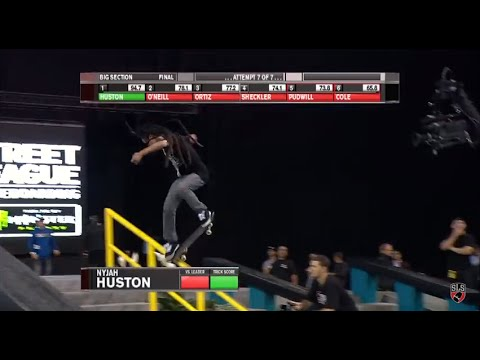 Street League: the Nine Club - Nyjah Huston's Backside 360 to Frontside Nose Blunt Slide