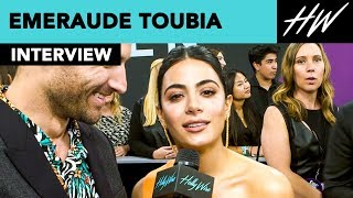 Emeraude Toubia Shadowhunters Star Sings Spice Girls Song At The People's Choice Awards! | Hollywire - HOLLYWIRETV