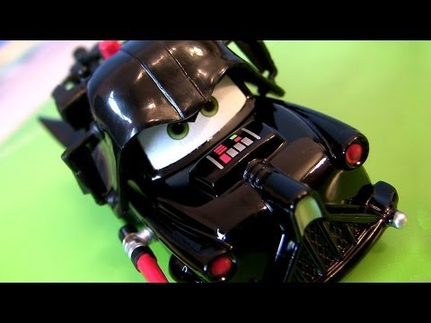 Jedi Mater as Darth Vader Disney Cars STAR WARS The Force is With YOU toy review by Blucollection