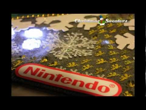 Vintage Nintendo Light Up Christmas Sweater