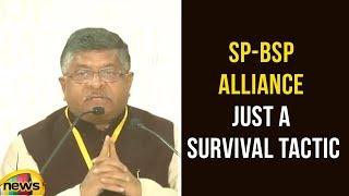 Ravi Shankar Prasad Says SP BSP Alliance Just A Survival Tactic | Latest News Updates | Mango News - MANGONEWS
