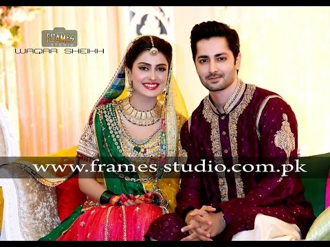 Aiza Khan and Danish Taimoor Mehndi Pictures