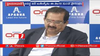 Aparna One The Realty Project That Takes Luxury To New Level | C Rakesh Reddy | iNews - INEWS