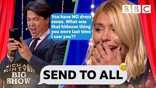 Holly Willoughby mortified as Michael TRASHES her contacts - BBC - BBC