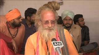 Australian atheist-turned-ascetic turns heads at India's Kumbh Mela - ANIINDIAFILE