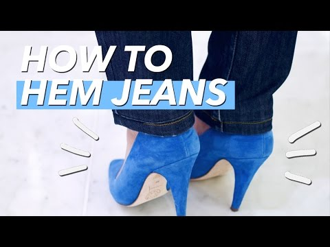 How to Hem Jeans (Shortening the Leg)
