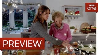 Alex Jones cooks for Mary Berry - Mary Berry's Christmas Party: Preview  - BBC One - BBC