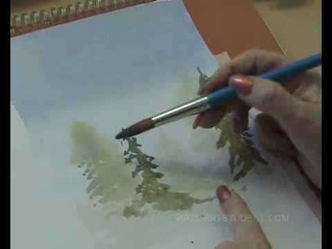 Learn How To Paint with Watercolours - Wet into Wet