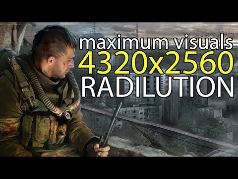 STALKER: Shadow of Chernobyl - 4k (4320x2560) maximum visuals -3x Radeon r9 290