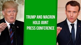 LIVE: President Trump and French President Macron Hold Joint Press Conference - VOAVIDEO