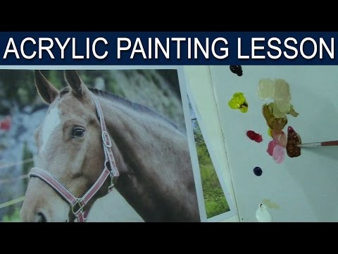 color mixing to match the reference colors in acrylic
