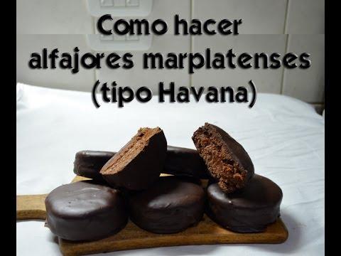 Como hacer alfajores marplatenses (Tipo Havana)