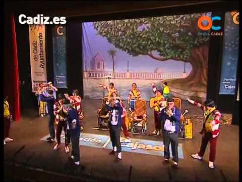 Sesión de Cuartos de final, la agrupación Haciendo el camino con Santiago actúa hoy en la modalidad de Chirigotas.