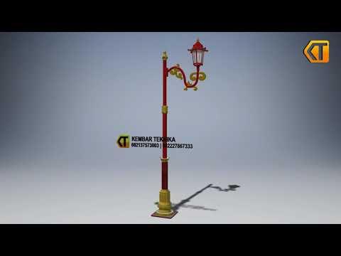 Desain Tiang Lampu Taman dan Kota