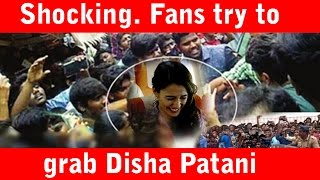 Shocking experience for Disha Patani in Hyderabad || Disha Patani mobbed by fans and she was injured - IGTELUGU
