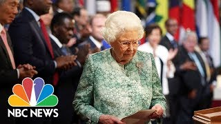 Queen Elizabeth Welcomes Commonwealth Leaders To Palace And Tips Charles As Successor | NBC News - NBCNEWS
