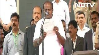 एचडी कुमारस्वामी ने कर्नाटक के सीएम पद की शपथ ली - NDTVINDIA