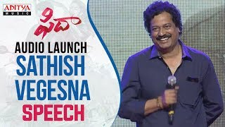 Sathish Vegesna Speech At Fidaa Audio Launch Live || Varun Tej, Sai Pallavi || Sekhar Kammula - ADITYAMUSIC