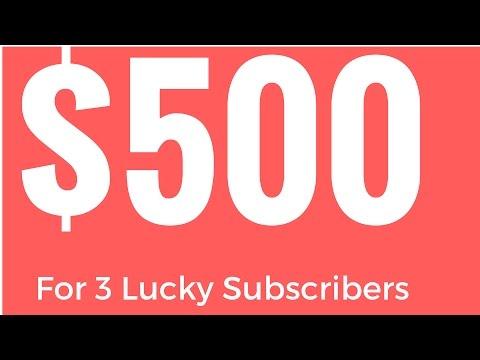 $500 Prize Giveaway | Subscriber's Appreciation